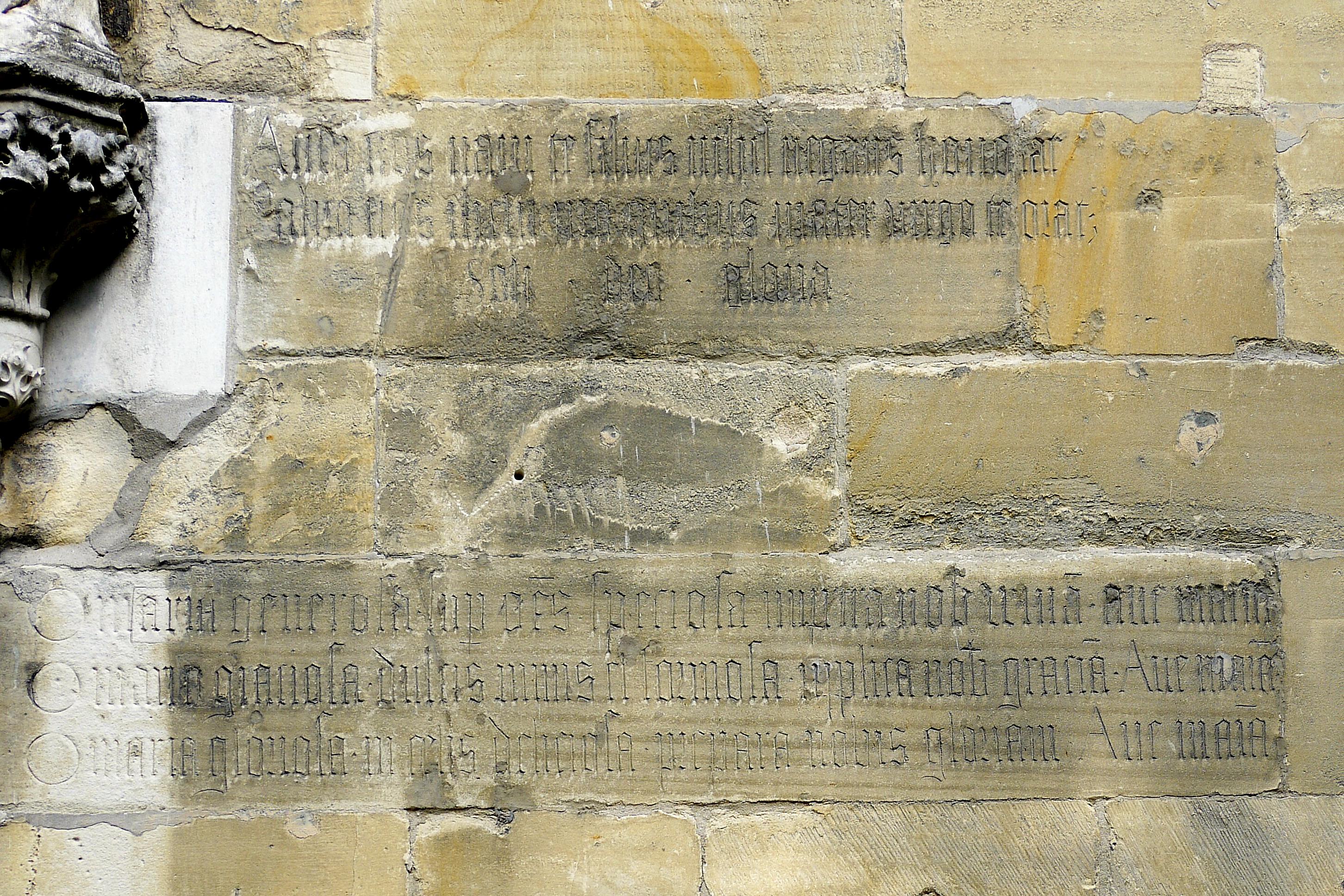 Inschrift Überwasser